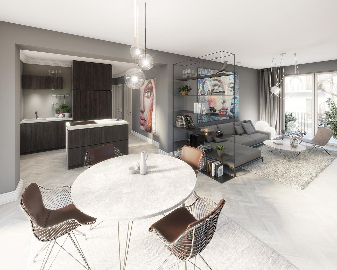 Hinterhaus Wohnzimmer